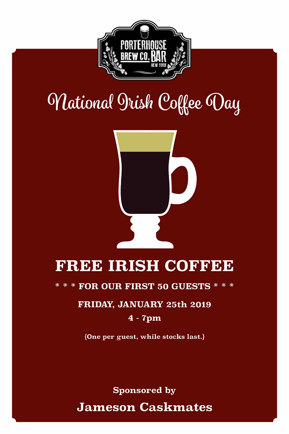 Free Irish Coffee - National Irish Coffee Day 1